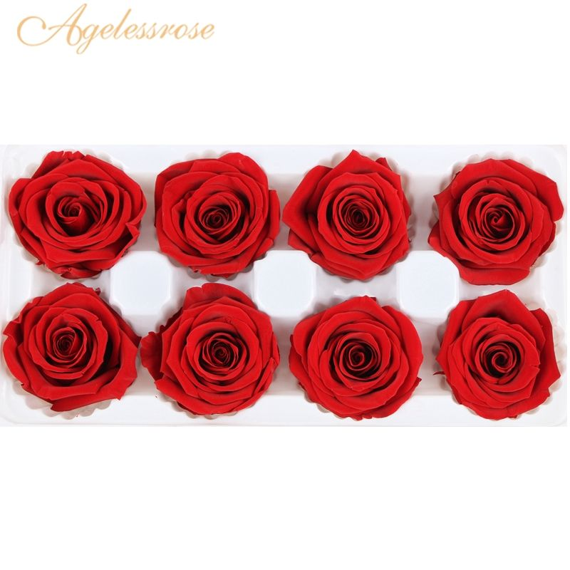 4-5cm dried preserved rose buds head flower preserved forever roses long lasting for valentines or Christmas