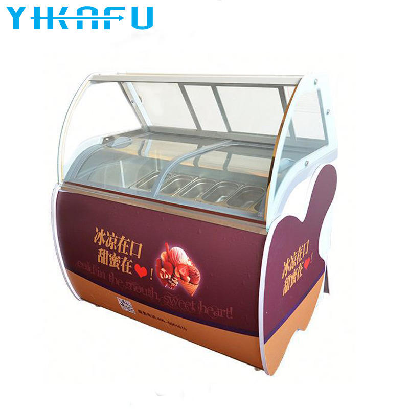 Hot sell products gelato ice cream display showcase for sale