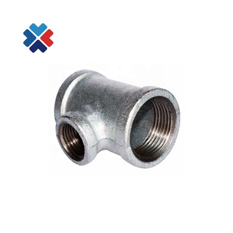 "Free sample banded 11/2"" malleable iron pipe fitting electrical galvanized pipe fitting tee 130 tee"