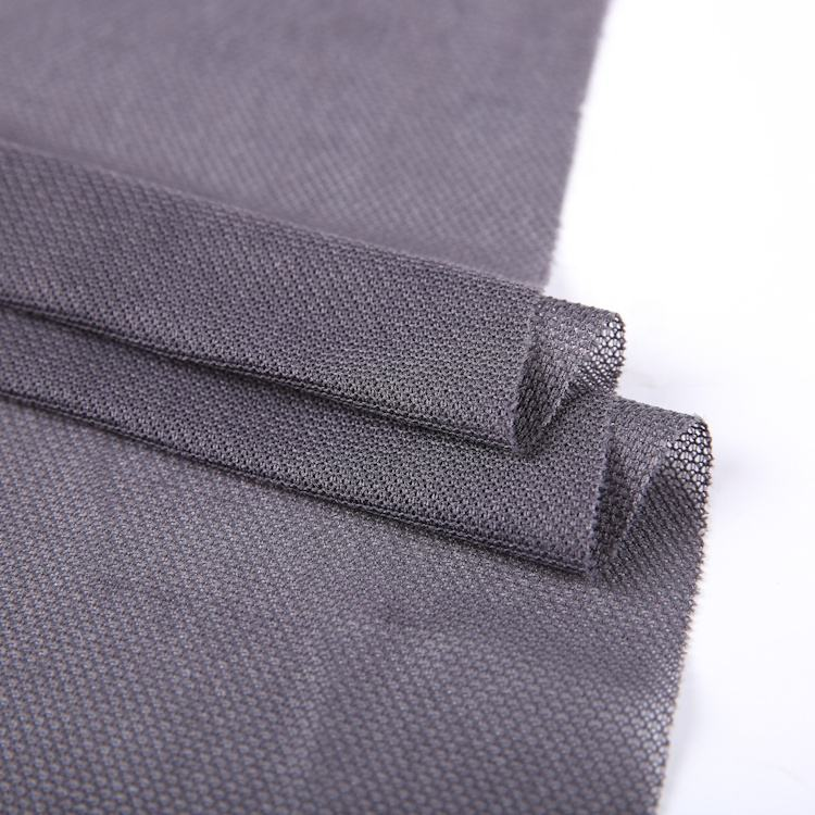 China textile in stock warp knitted 100 polyester mesh fabric for clothing