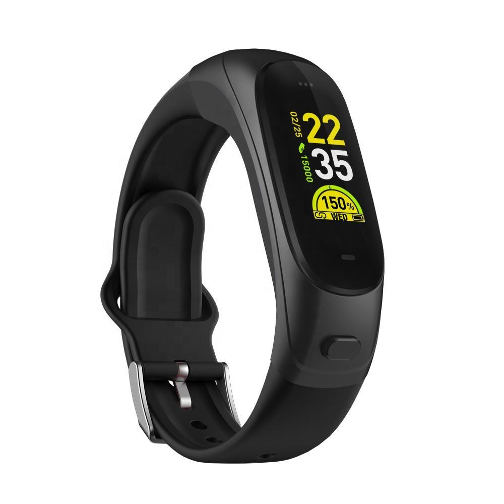 OEM koşu sıkılaştırma bandı egzersizleri 2 in 1 akıllı saat smartwatch bluetooth izle uluslararası akıllı saat kulaklık