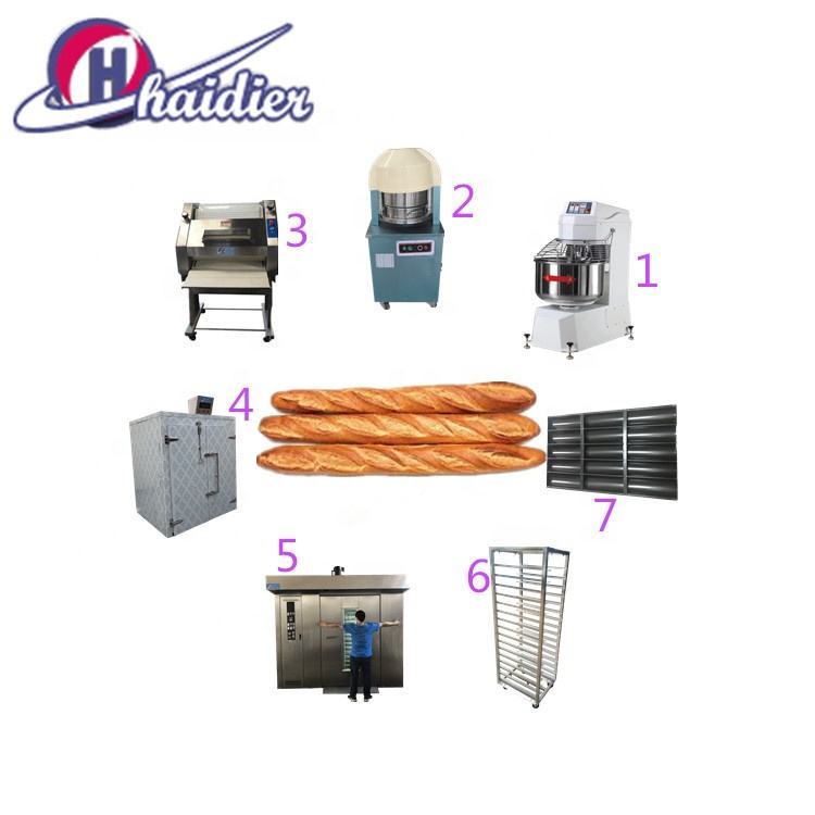 Complete Bakery Equipment (Mixer, Divider, Rounder, Sheeter, Prover, Deck Oven, Rotary Oven) Baguette Line