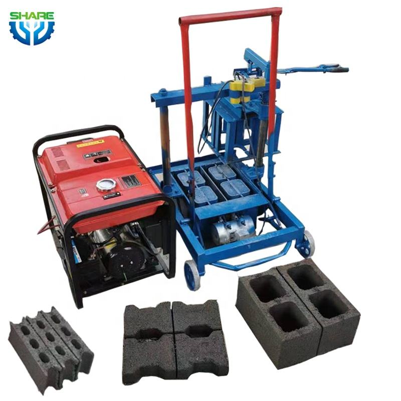 Portable Hollow Block Machine Concrete Block Maker Brick Making Machine