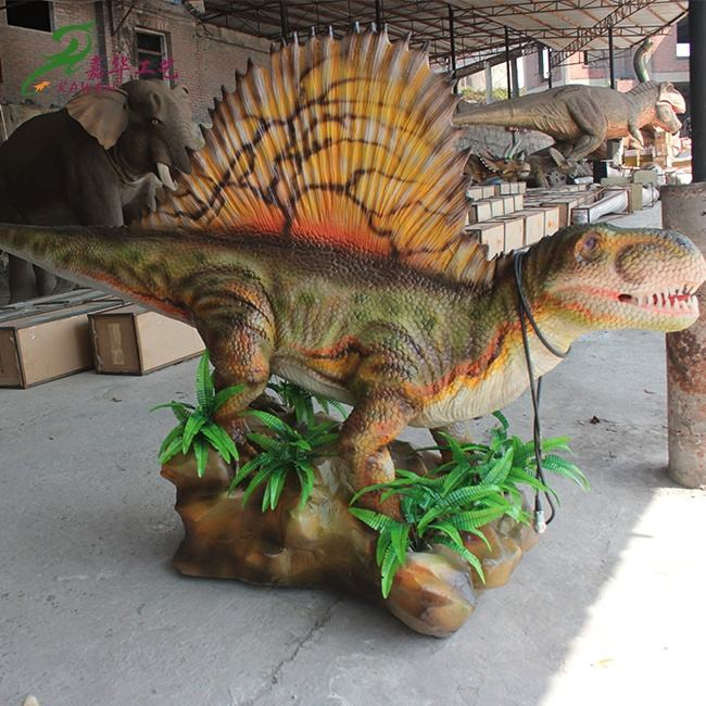 Customized Animatronic Dinosaur Zoo Dimetrodon Dino Scale Model For Sale