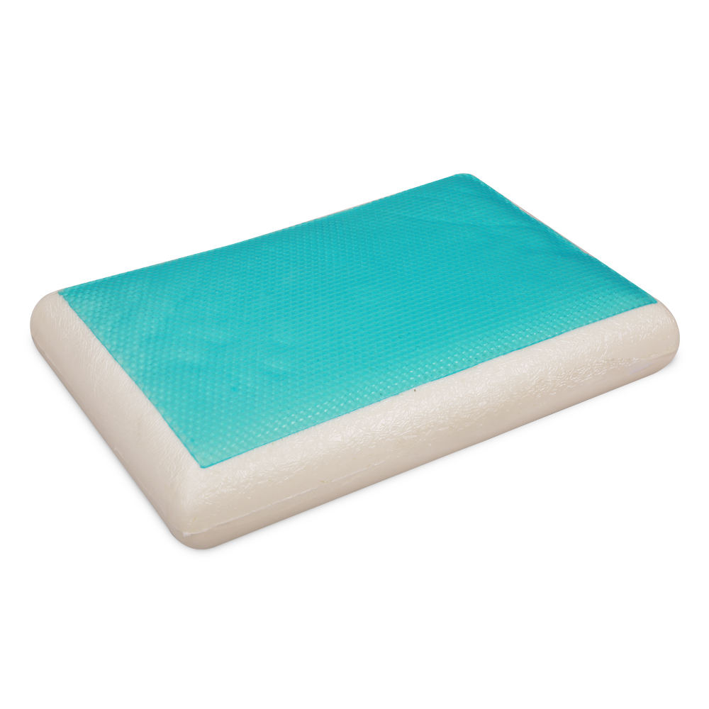 Mlily super soft custom sleeping chiropractic polyurethane sponge mould foam pillow with cooling gel pad