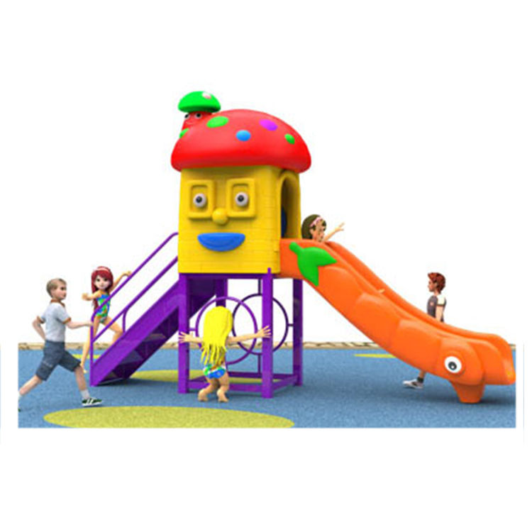 Small Slight preschool slide playground equipment outdoor playground