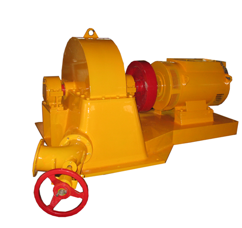 Inclined jet turbine 100 Kw 75 Kw micro hydro turbine generator