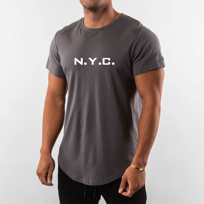 Chine Importation T-shirts 90 Polyester <span class=keywords><strong>10</strong></span> Spandex T-shirt Pour Les Hommes
