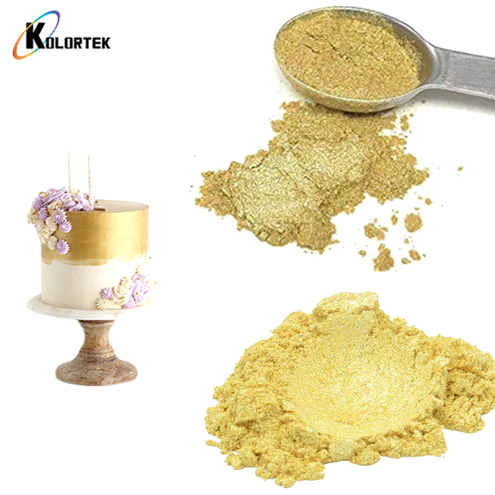 Food Grade Sparkle Gold Powder Gold Dust Edible Glitter for Bakery Food Additive