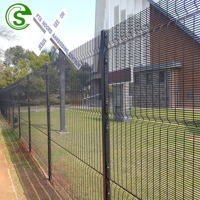 Vandal resistant high security iron wire mesh clear view fencing garden building 358 fences for USA