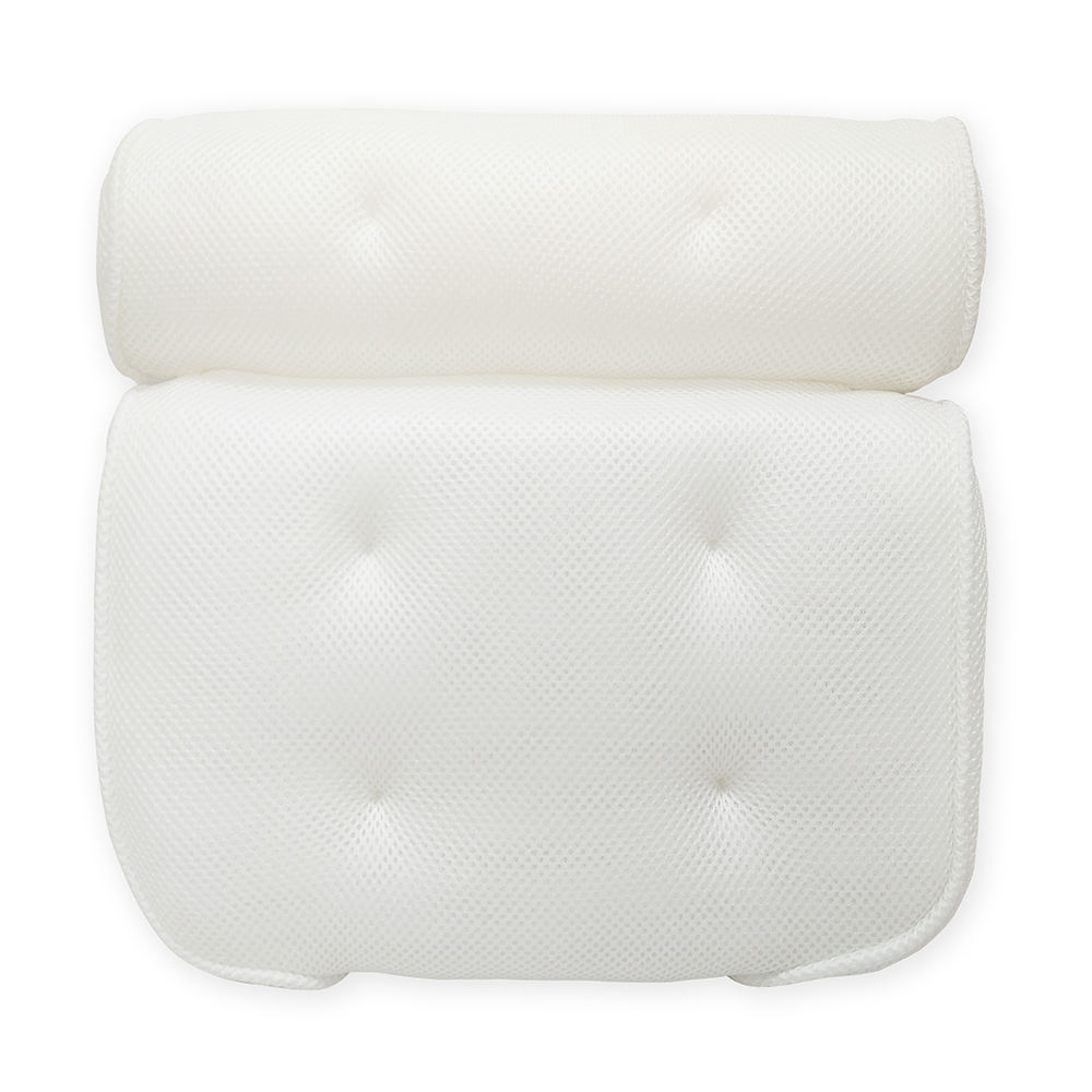 Hot Sales Home Bath Tub 3D Air Mesh Bath Rest Breathable Non Slip Spa Bath Pillow with 6 Suction Cups Bathtub Pillow
