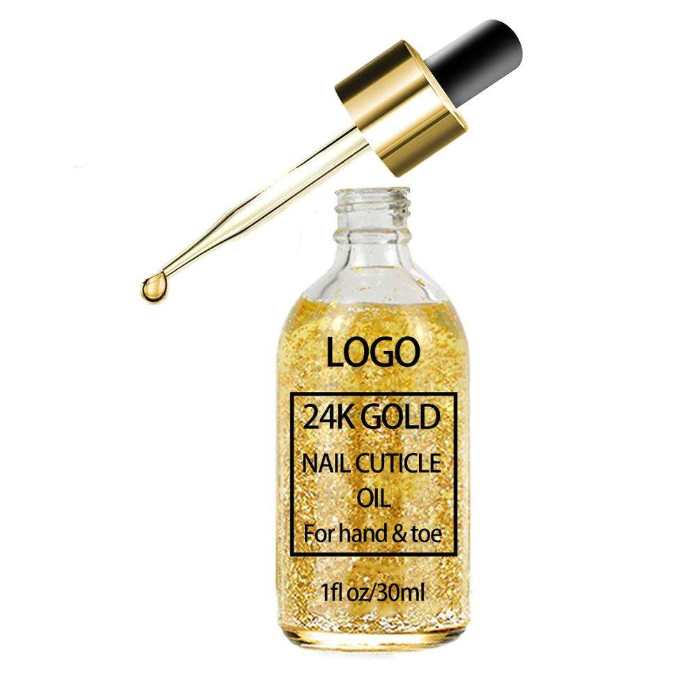 Make Own Label Nourishing Moisturizing Revitalizer Toe Repair Essence 24K Gold Nail Care Cuticle Revitalizer Oil