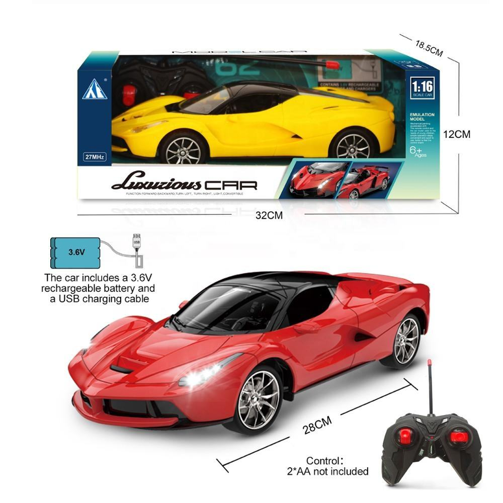 1:16 Four Ways Remote Control Car simulation car with light With USB cable