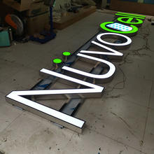 Customized Outdoor Led Channel Letter Signs 3d Frontlit stainless steel frame letter sign
