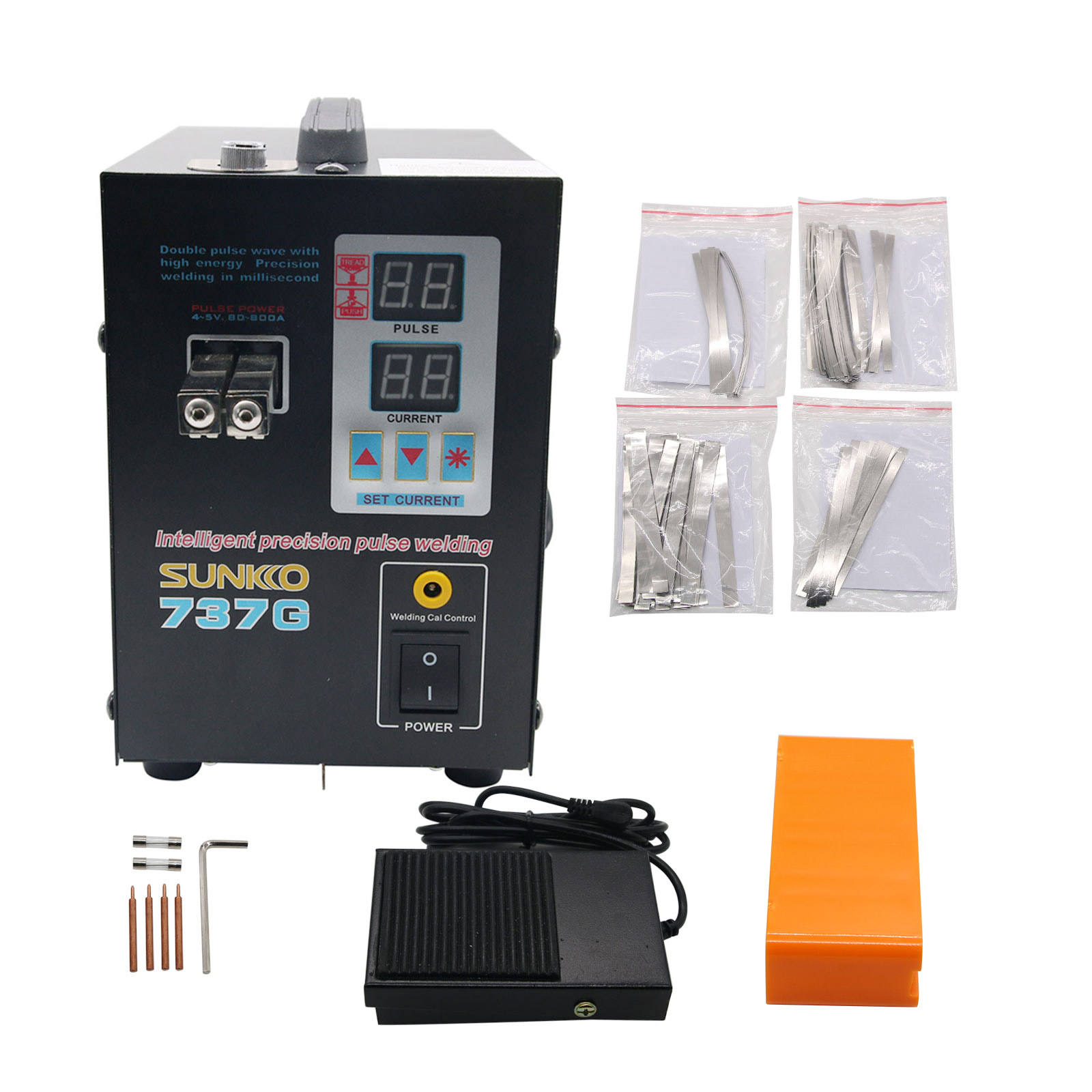 737G Spot Welder 1.5KW Battery Spot Welding Machine LED Light for 18650 Battery Pack Spot Welder