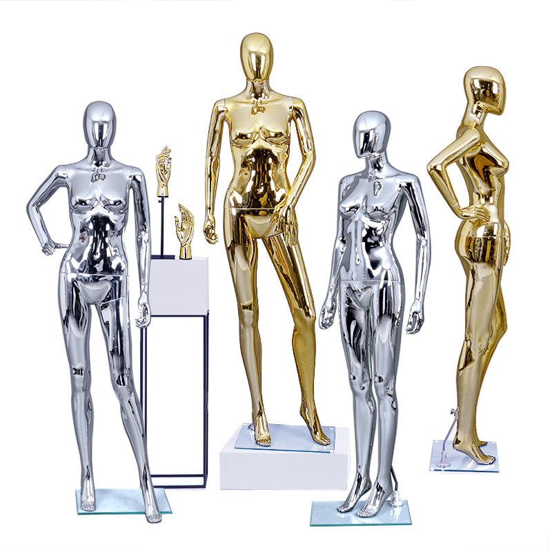 Top Grade Display Plastic Mannequins <span class=keywords><strong>Goedkope</strong></span> Goud Electroplated Full-Body Sexy Charmante <span class=keywords><strong>Vrouwelijke</strong></span> Full-Body Mannequin