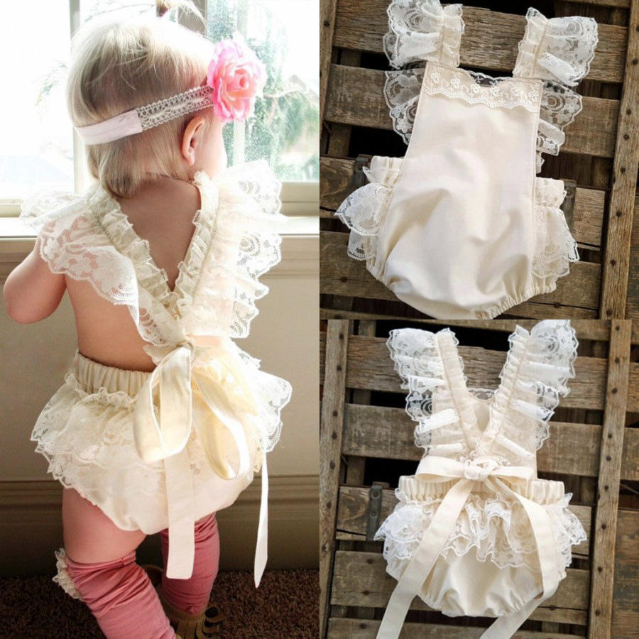 2020 children's European and American summer baby clothing sleeveless lace Baby girl jumpsuit
