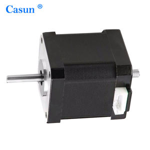 CE ISO RoHS Approved High Accuracy 1.8 Degree 2 Phase Double Shaft NEMA 23 Stepper Motor for CNC Machine  57SHD0410-18S