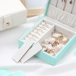 Custom Logo Luxury Travel Korean Style PU Leather Earring Ring Cases Organizer Jewelry Storage Box