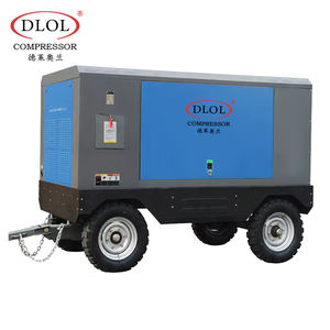 Portable Diesel Power Mining 7bar screw air compressor