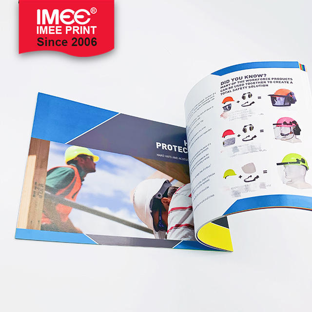 IMEE Custom A3 Leaflet Catalogue Booklet Laminated Folding Brochure Printing Service