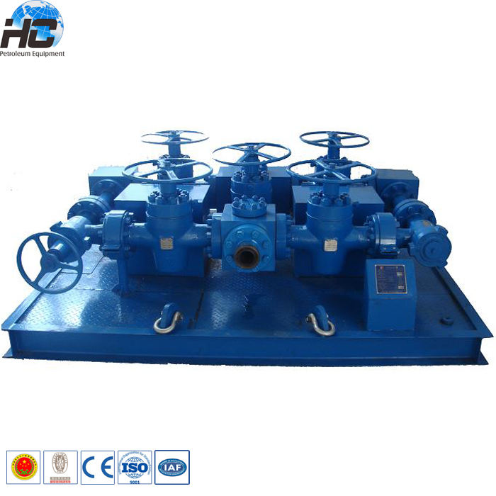 Oilfield wellhead manufacturers API 16C choke and kill manifold / manual & hydraulic choke manifold