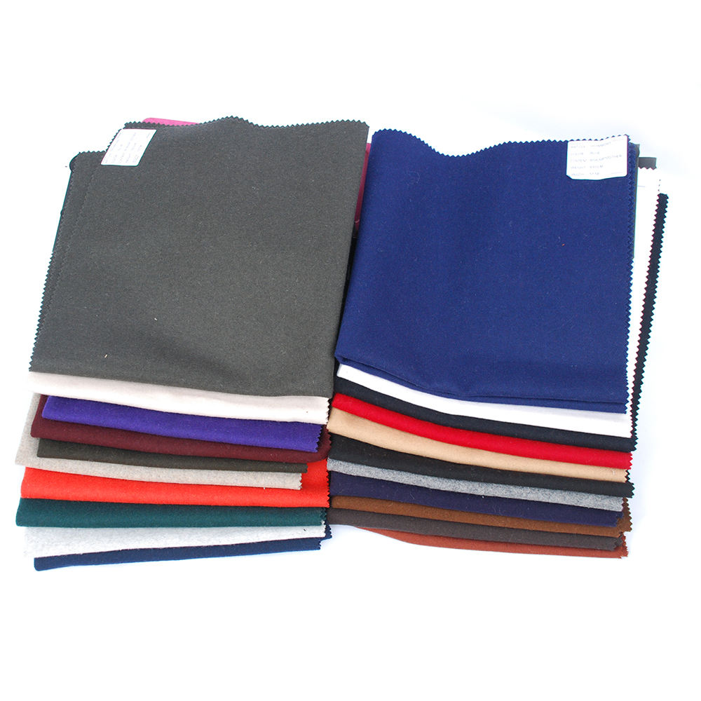 Wholesale high quality warm super soft dyed woolen fabric
