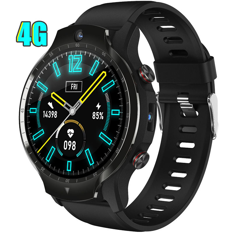 2021 4G SIM Card Call Face Unlock WIFI GPS Tracker Android Dual Camera Video Call Smart Watch Phone With Dual Chip Dual System