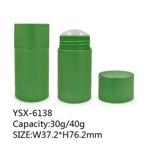 Factory wholesale 30g 40g solid balm custom round matte stick packaging stick deodorant