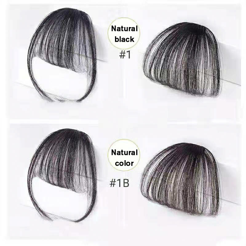 10a Grade clip in bangs fringe human hair Indian cuticle aligned hair bang extension