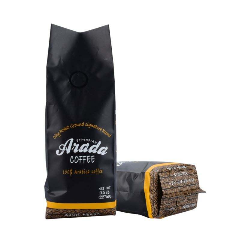 Custom Logo Design Food Grade Packaging Coffee Bag Valve And Tin Tie
