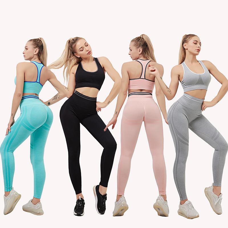 ins women Gym Clothing Sports Wear Fitness Training Sports Workout suit Fitness wear yoga clothes set Athletic Apparel
