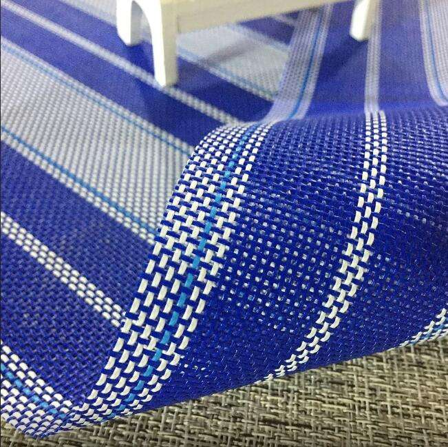 fire retardant outdoor furniture pvc coated mesh woven fabric for beach chair