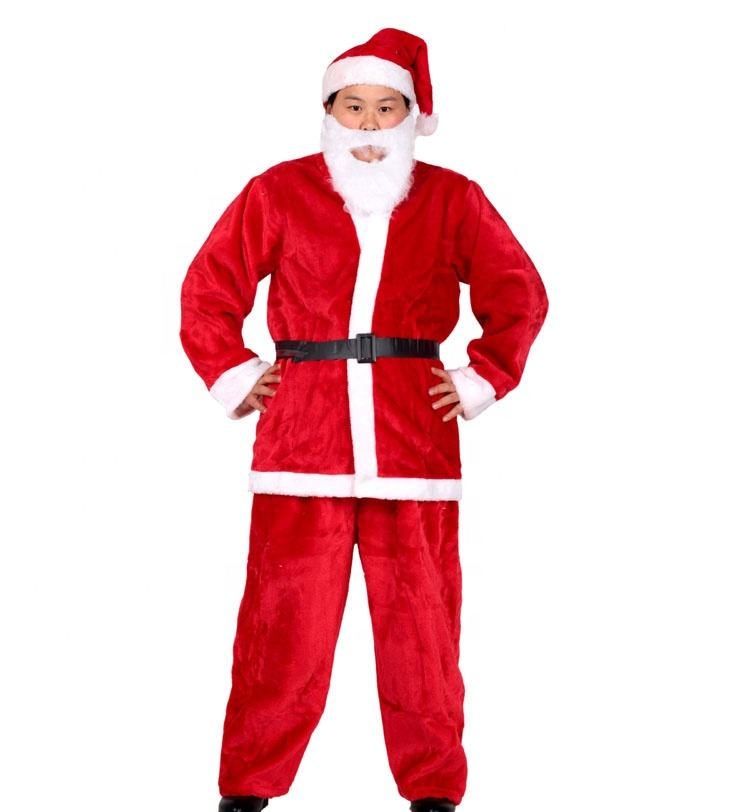 New Year Christmas Carnival Father Christmas Suits Santa Claus Costume A For Adult