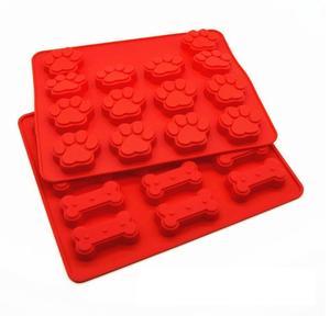 Großhandel 3D Rosa Hund Fuß Und Knochen Silikon Backformen Kuchen Plätzchen Soap Schokoladen Form Form Eiswürfel Welpen Druck Kuchenform Von