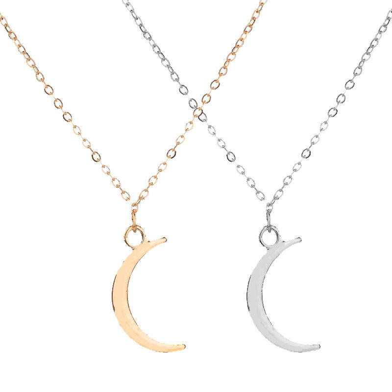 Hot selling new style simple fashion temperament moon pendant necklace women's collarbone chain