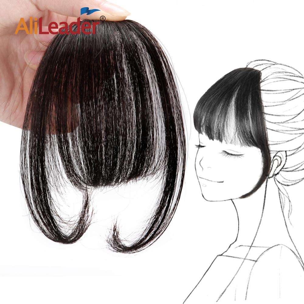 AliLeader Popular Hand-made 100% Human Hair Bangs Remy Cuticle Aligned Hair Extension