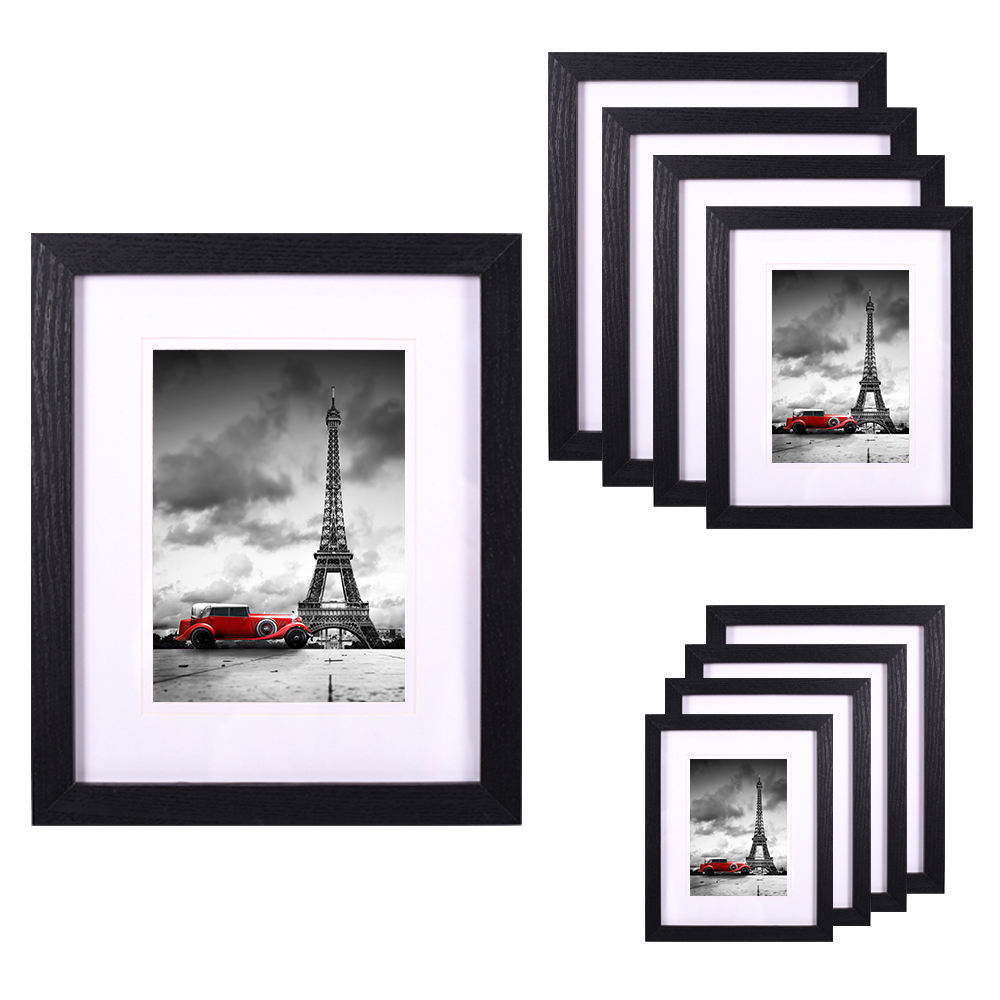 Four color options length customization decoration MDF veneer photo frames