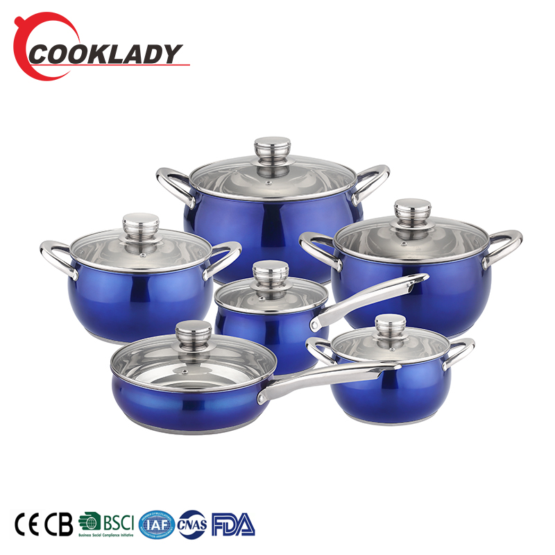 2020 New Design Wholesale Bright Colors Round 1 Set Royal Prestige Antique Kitchen Cookware Sets