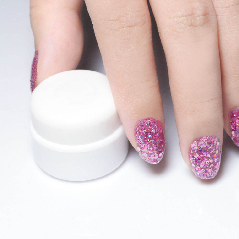 Easy Soak Off Shimmer powder Flash Fairy Colorful UV Nail Glitter Gel