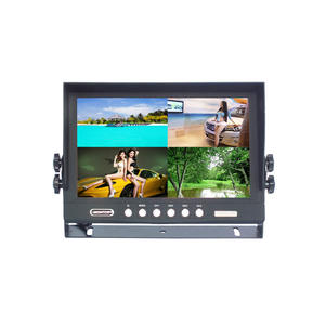 9 pollici Camion Bus Poggiatesta Auto Vista Posteriore del Monitor Built-In DVR
