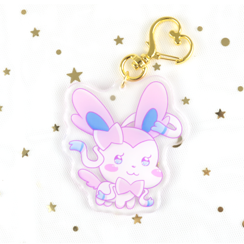 Custom Logo Cute Anime Shape Plastic Clear Acrylic Charm Keychain for Wholesale
