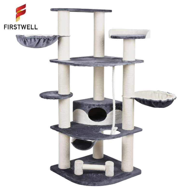 Gattino gatto Graffiare Sisal Post Tree Climbing Mobili Piattaforma Gatto Tree House
