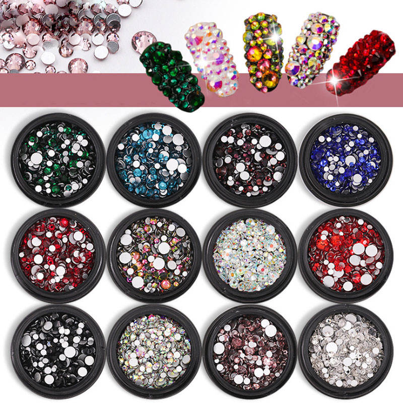 Strass d'ongles 3D Super Flash, 12 styles en option, outils d'art d'ongles, pour décoration d'ongles