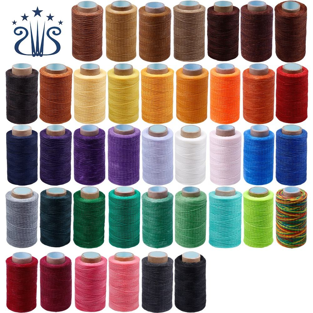 Wholesale Optional Colors DIY Handmade 250m Leather Sewing 1mm Flat Wax Thread