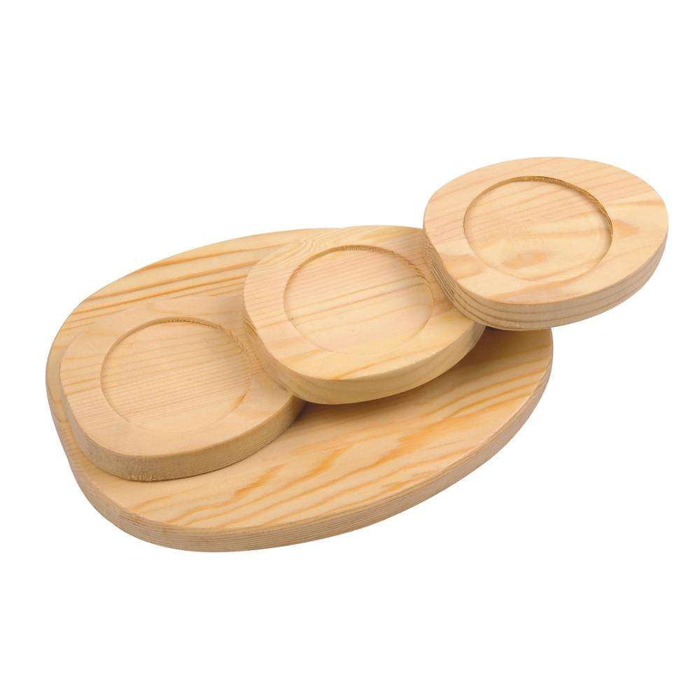Wooden Sushi Tray Serving Plate for Japanese Food Restaurant