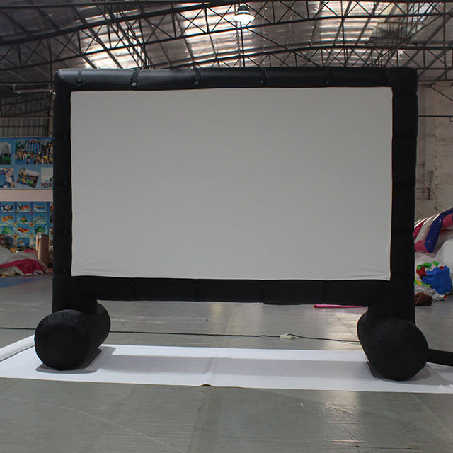 16 '-20' フィートInflatable Outdoor Projector Movie Screen Quick Inflation And Deflation Blow Up Mega Projector Screen Cinema