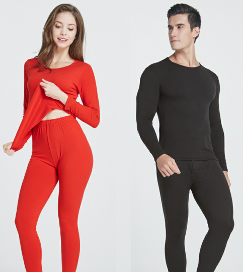 winter lightweight mens O-neck slimming body Long johns Thermal t-shirt thermal pants wear to keep warm