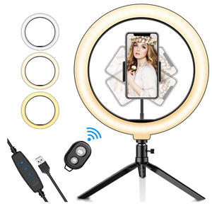 10 Inch Mobiele Telefoon Led Lamp Camera Selfie Ringlicht Houder Vul Led Ring Licht Met Statief Telefoon Video Led licht
