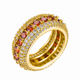 Copper Hiphop Bling Zircon Iced Out Wedding Rings For Man
